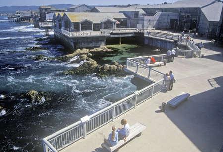 monterey: Monterey Bays Fishermans Wharf in Monterey, California Editorial