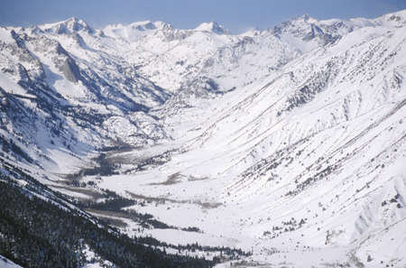 excelsior: Aerial shot of the Excelsior Mountains near Yosemite, California