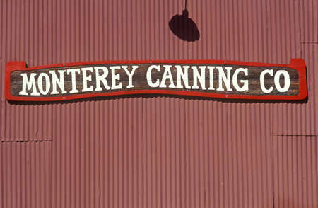 Monterey Canning Co at Fishermans Wharf in Monterey, Monterey, California Editorial