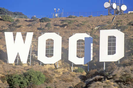 north hollywood: ÒHollywoodÓ sign on the hillsides of Hollywood, Los Angeles, California