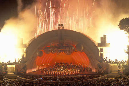 north hollywood: 1812 Overture with fireworks at the Hollywood Bowl, Los Angeles, California Editorial