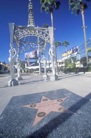 ÒHollywood Walk Of FameÓ on Hollywood Blvd., Los Angeles, California Sajtókép