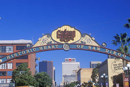 san diego: The Gas Lamp Quarter, the historic heart of San Diego, San Diego, California