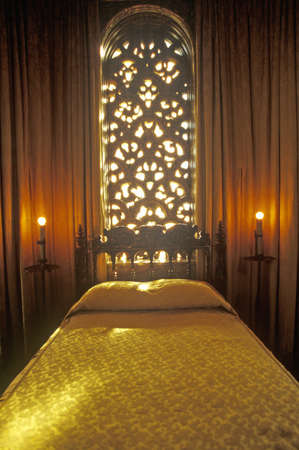 Celestial Suite Bedroom at the Hearst Castle, San Simeon, Central Coast, California