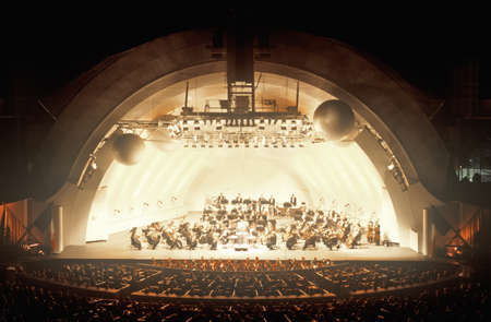 north hollywood: Symphony plays Tchaikovsky at the Hollywood Bowl, Los Angeles, California