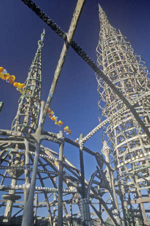 riots: Watts Towers 20th Anniversary of the 1965 riots, Los Angeles, California Editorial