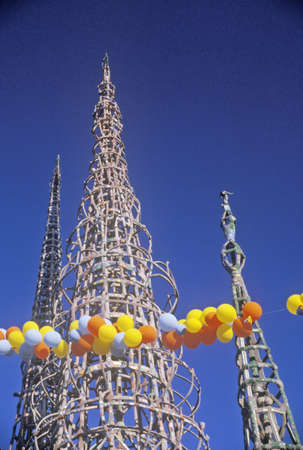 watts: Watts Towers 20th Anniversary of the 1965 riots, Los Angeles, California Editorial