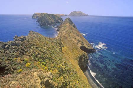 Inspiration Point on Anacapa Island, Channel Islands National Park, California Редакционное