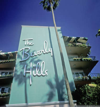 city hotel: The Beverly Hills Hotel, Los Angeles, California Editorial