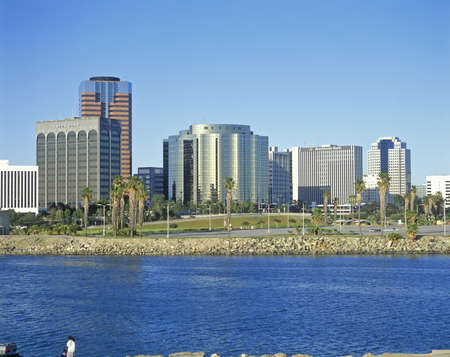 Long Beach skyline, Long Beach, California