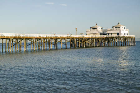 remodeled: The newly remodeled Malibu Pier, Malibu, California Editorial