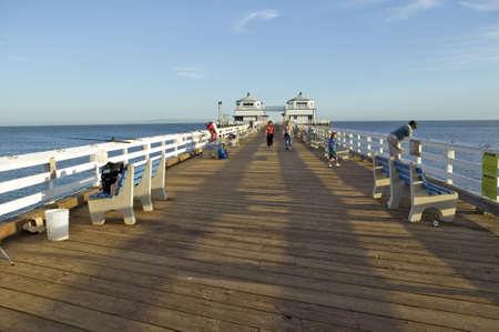 malibu: The newly remodeled Malibu Pier, Malibu, California Editorial