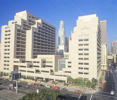 ronald reagan: Ronald Reagan State Office building in downtown Los Angeles, California Editorial