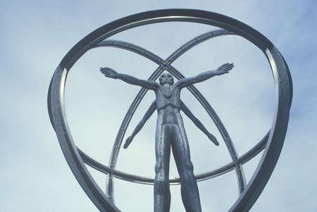 mile high city: Christopher Columbus statue, Denver, Colorado