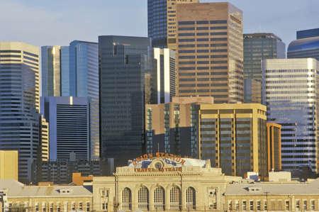 ÒMile High CityÓ at sunset, Denver, Colorado