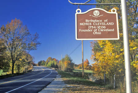 Birthplace of Moses Cleveland along scenic Route 109 north of Canterbury, Connecticut