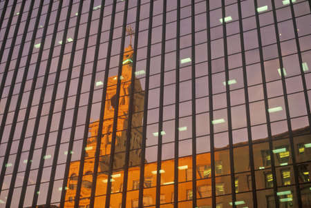Reflection of Court House in a Hartford high-rise, Hartford, Connecticut