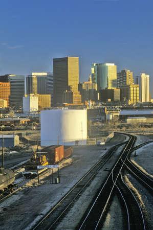 �Mile High City� at sunset, Denver, Colorado