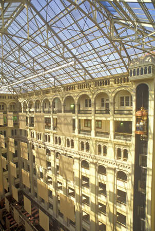 Interior courtyard of Old Post Office, Washington, DC