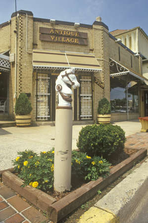 hitching post: Kensingtons �Old Town� District, Montgomery County, Maryland
