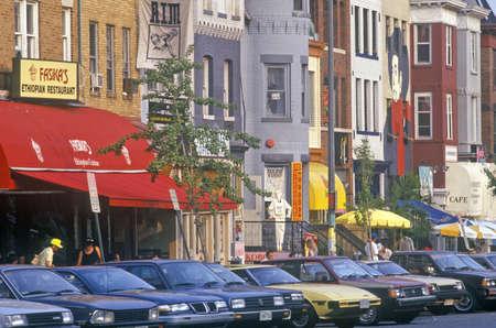 adams: Ethnic restaurants in the Adams Morgan District, Washington, DC Editorial