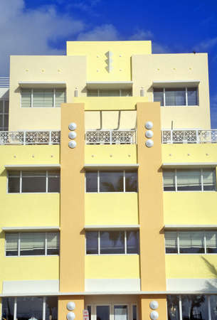artdeco: An Art-Deco District south beach building, Miami, Florida