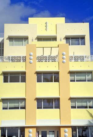 artdeco: An Art-Deco District south beach building, Miami, Florida