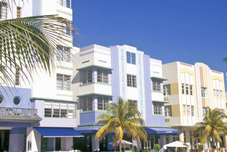 artdeco: An Art-Deco District south beach neighborhood, Miami, Florida