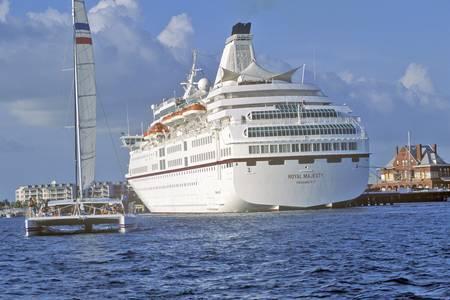 Royal Majesty cruise ship at dock at the Sunset Pier, Key West, Florida