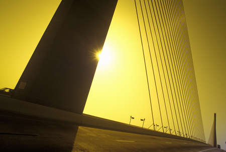 Tampa Sunshine Skyway Bridge, worlds longest cable-stayed concrete bridge, Tampa Bay, Florida
