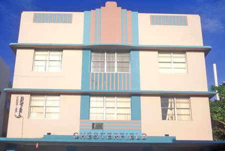 artdeco: Un edificio de South Beach Art Deco District, Miami, Florida Editorial