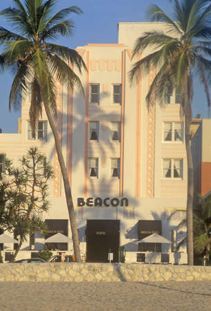 artdeco: Morning light on an Art-Deco District south beach building, Miami, Florida