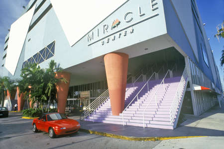 mile: Miracle Mile Shopping Center in Coral Gables, Miami, Florida