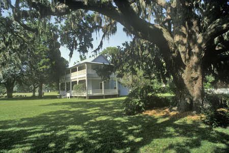 surviving: Gamble Mansion, home of Major Robert Gamble, is the only surviving plantation house in south Florida, Ellenton, Florida