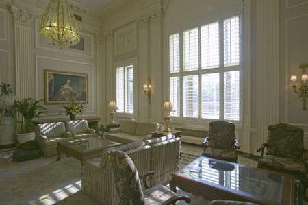 mayflower: Sitting area of historic Mayflower Hotel, Washington D.C. Editorial