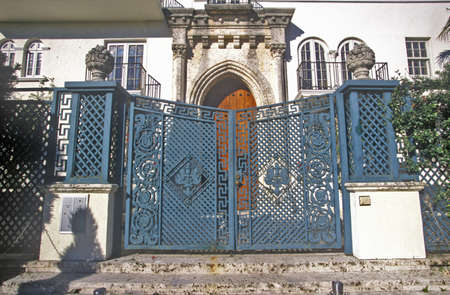 Gates to former house of Gianni Versace in south beach, Miami Beach, Florida