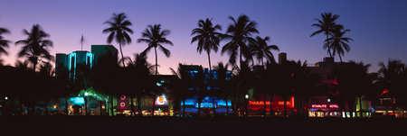 south miami: �SOBE� south beach at night, Miami Beach, Florida Editorial