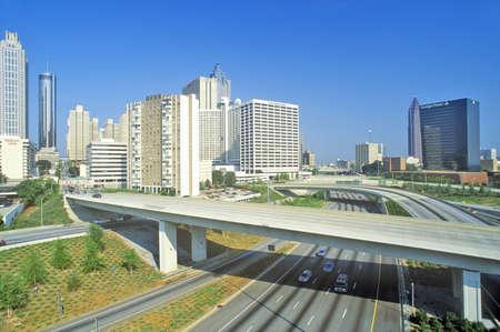 atlanta tourism: Skyline view of the state capital of Atlanta, Georgia Editorial