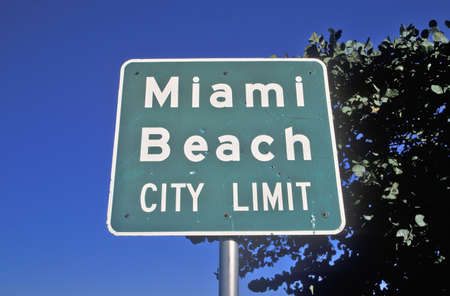�Miami Beach City Limit� also known as south beach, Miami Beach, Florida