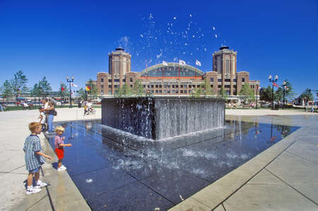 navy pier: Water Fountain at Navy Pier, Chicago, Illinois Editorial