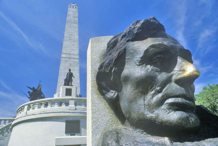 abe: Lincoln Memorial, Springfield, Illinois Editorial