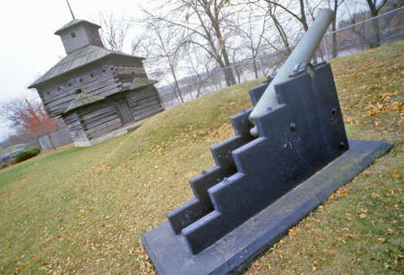 Cannon at Fort Armstrong, Rock Island, Illinois