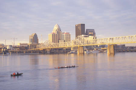 Ohio River and Louisville skyline, KY