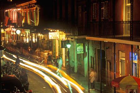 bourbon street: Bourbon Street at Night, New Orleans, Louisiana