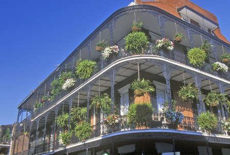 the deep south: Balconies on Bourbon Street, New Orleans, Louisiana Editorial
