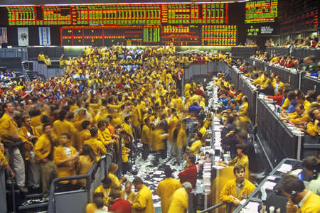 trading board: Trading Floor of the Chicago Mercantile Exchange, Chicago, Illinois