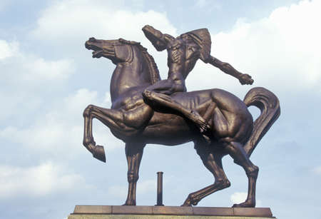Statue of Indian on Horse, Grant Park, Chicago, Illinois