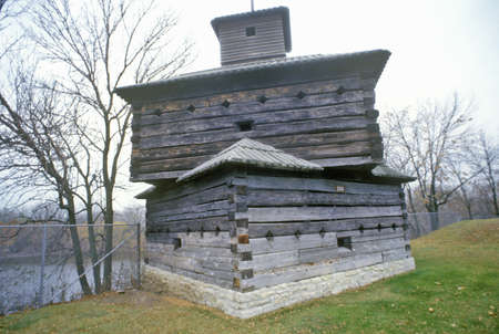 Fort Armstrong Blockhouse, Rock Island, Illinois Stok Fotoğraf - 20514759