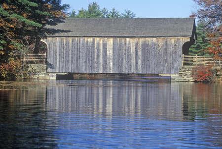 covered bridge: Old Covered Bridge, Sturbridge, Massachusetts