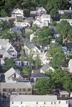 cape cod home: Aerial View of Provincetown, Massachusetts Editorial